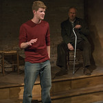 Rob Fenton (Kevin) and Patrick Clear (Joe) in PORT AUTHORITY at Writers Theatre. Photo by Michael Brosilow.