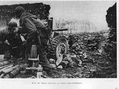 BM 24 -1945- Alsace -  Pièce antichar en action près d'Ostheim