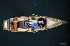 Notebook inspired engagement shoot on a boat photo by Bert Palmer