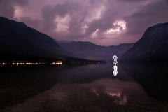 Lightning Strikes Twice (All In Camera Light Painting), Bohinj Jezero photo by flatworldsedge