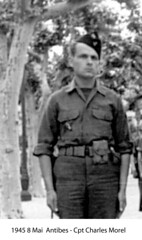 BM 4 Chambarand - 1945 8 Mai_Antibes_Cpt_Charles Morel - Col. Emile Gauthier