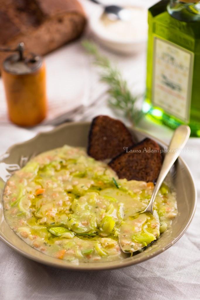 zuppa di farro fave e porri-3527