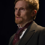 Scott Parkinson (Judge Brack) in HEDDA GABLER at Writers Theatre.  Photo by Michael Brosilow.