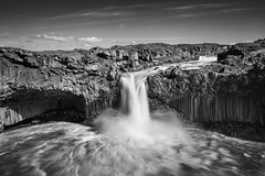 Waterfall Aldeyjarfoss - northern Iceland photo by Páll Guðjónsson