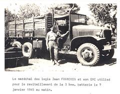 1945 - RA- Jean FRANCOIS et son GMC -  Livre d'or archives mairie Herbsheim