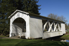 Stayton-Jordan covered Bridge - Built 1998 replacing Jordan Bridge after a fire in 1994, Scio, Oregon photo by Anna Calvert Photography