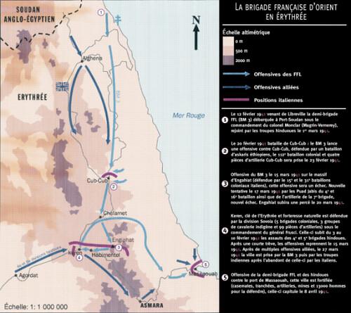 1941- Erythrée- carte Brigade française d'Orient