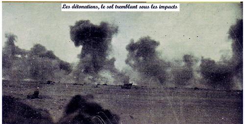 1942- Bir Hakeim -Les détonations, le sol tremblant sous les impacts - source : Frédéric Russo