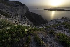 Santorini cliffs photo by Andrej Trnkoczy