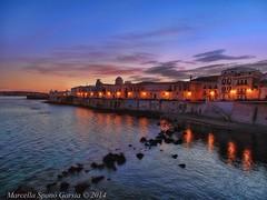Sunset on Ortigia photo by Marcella Spanò Garsia