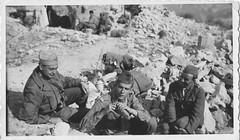1945- Authion- 22e BMNA- Jean Fevre (quelques jours avant qu'il ne soit tué),  Lieutenant Jean-Pierre Danaud et Adjudant-chef Henri Bernus- Fonds René Petitot