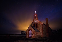 Poonindie Church South Australia at Night photo by Jacqui Barker Photography