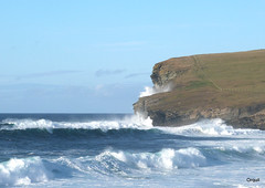 October Surf At Marwick Head photo by orquil