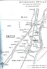 Carte campagne d'Alsace- 1-12 janvier 1945- Source  Carnet de route d'André Sébart BM 24