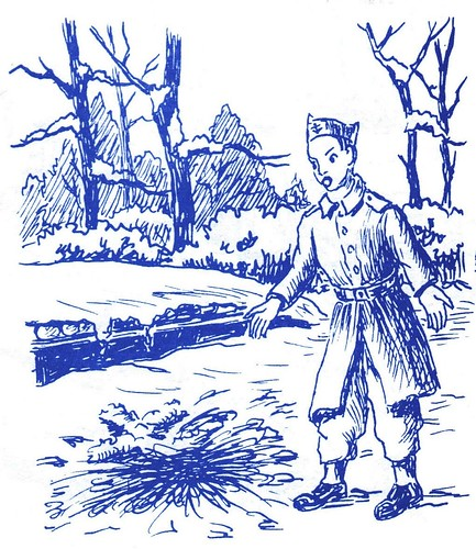 1944 - Franche Comté- Bois de Fresse en novembre - Illustration de Jean Coquil -2-(Capitaine au BM 5)