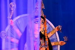 Portrait of An Idol...... Durga Puja at Kolkata photo by pallab seth
