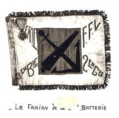 1945 - RA - Fanion 3e batterie Livre d'or archives mairie Herbsheim