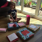 Amy loving her party presents<br/>10 Jul 2016