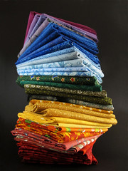 Fabric Tower in Rainbow Colors photo by Batikart