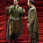 Sean Fortunato and Timothy Edward Kane in ROSENCRANTZ AND GUILDENSTERN  ARE DEAD at Writers Theatre. Photos by Michael Brosilow.