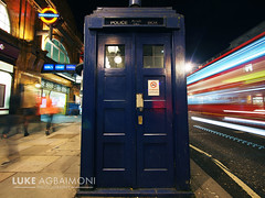 The Tardis - Earls Court Station - London photo by Luke Agbaimoni (last rounds)