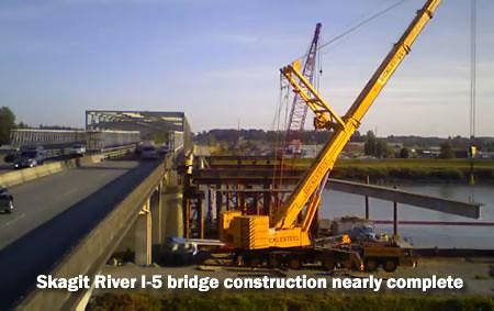 Skagit River I-5 Bridge Construction