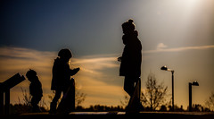 Silhouetted family.. photo by Bhalalhaika