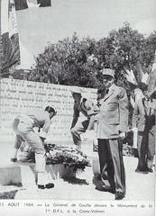 La Croix-Valmer inauguration du monument par le général de Gaulle