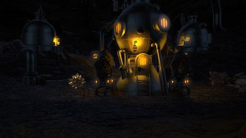 ウ・ガマロ鉱山内部の謎の機械