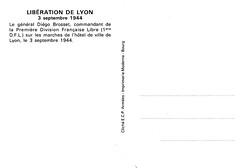 Philatélie- 1944 - Lyon - Général Brosset - source : Jean Pflieger