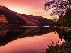 Sunset reflections on Loch Eck photo by Bathsheba 1