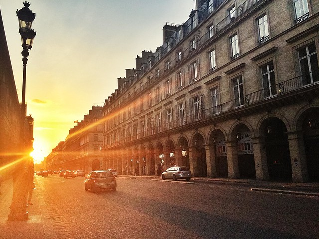 Rivoli/Tuileries - Sunset