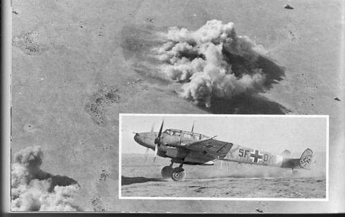 1942 Bir Hakeim - Un ME 110 qui  a participé raids 1000 réduire la garnison - ECPA - Erwan Bergot