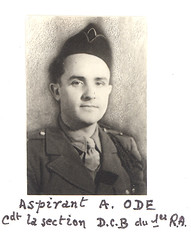 1945 - RA - Aspirant André ODE -Livre d'or archives mairie Herbsheim