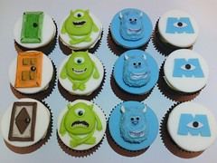 Monsters Inc Cupcakes photo by Noo & Moo's Cakes