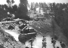 1945- Authion - Les Fusliers marins à l'assaut de Cabanes Vieilles