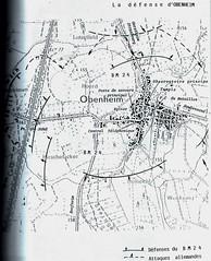 Carte de la défense d'Obenheim- Source  Carnet de route d'André Sébart BM 24