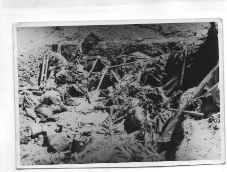 La position après les bombardements