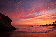 1 of (3) Color Explosion! Corona Del Mar California sunset photo by swazileigh (on/off/on/off)