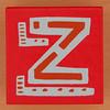 Bob and Roberta Smith Alphabet Block Letter Z