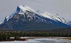 Mount Rundle & Frozen Mountain Lake photo by LostMyHeadache: Absolutely Free *
