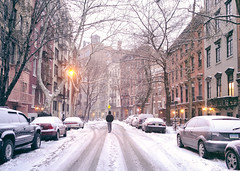 New York City - Snow on a Winter Evening in the West Village photo by Vivienne Gucwa
