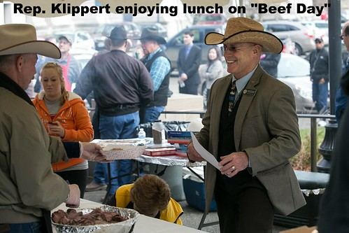 WA Cattlemen's Association treat Rep. Klippert to some lunch on Beef Day