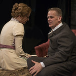 Shannon Cochran (Alice) and Philip Earl Johnson (Kurt) in THE DANCE OF DEATH at Writers Theatre