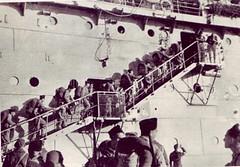 1943 - Tunisie - embarquement du RA à Bône