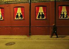 Promenade in the night. Palidzibas Street in Riga, Latvia. March 5, 2014 photo by Vadiroma