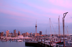 Sunset over Viaduct Harbour [explored] photo by Spectra & Colours