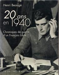 Henri Beauge- Avoir vingt ans en 1940