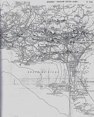 Carte Hyères Toulon - 19-24 Aôut - Source  Carnet de route d'André Sébart BM 24