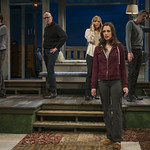 Stephen Schellhardt (Edmund), Jonathan Weir (Frank), Susie McMonagle (Maria), Emily Berman (Tessa) and Jeff Parker (Francois) in DAYS LIKE TODAY at Writers Theatre. Photo by Michael Brosilow.